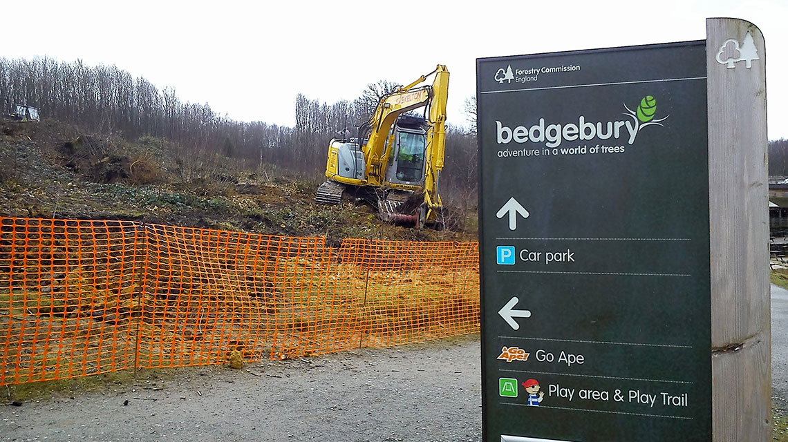 Our Bedgebury Pinetum landscaping project.