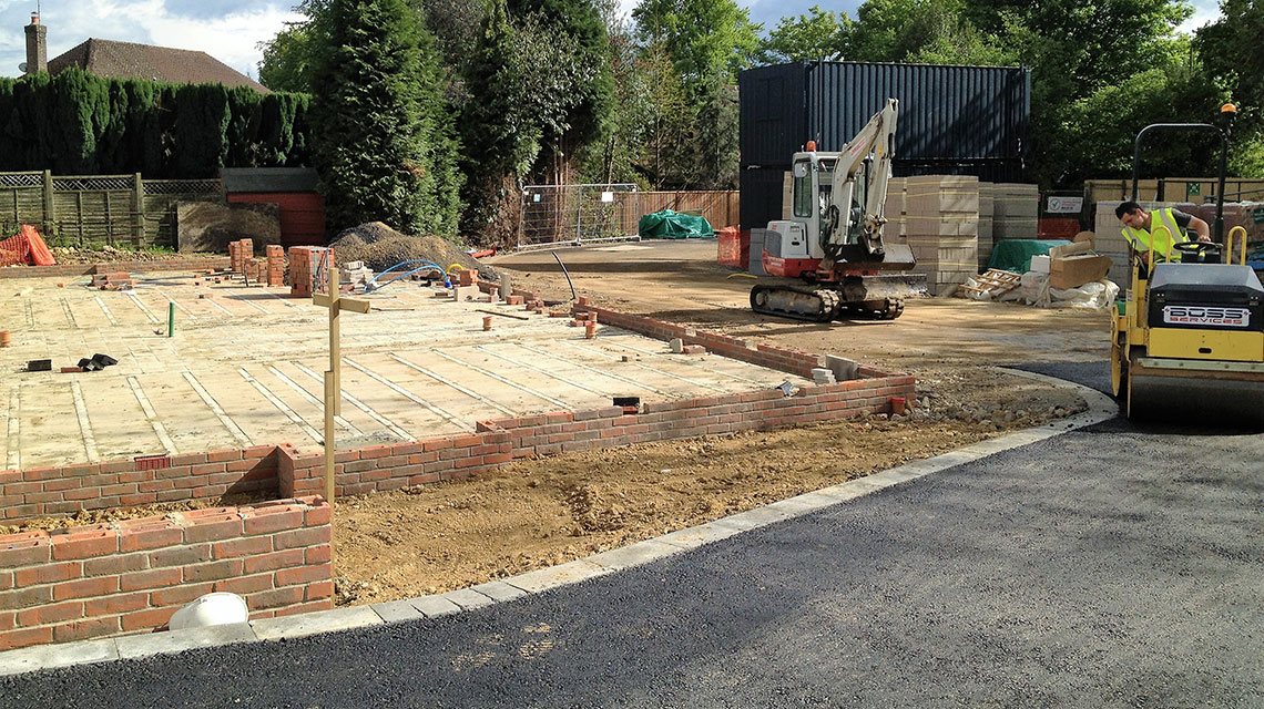 Our East Grinstead groundwork project.