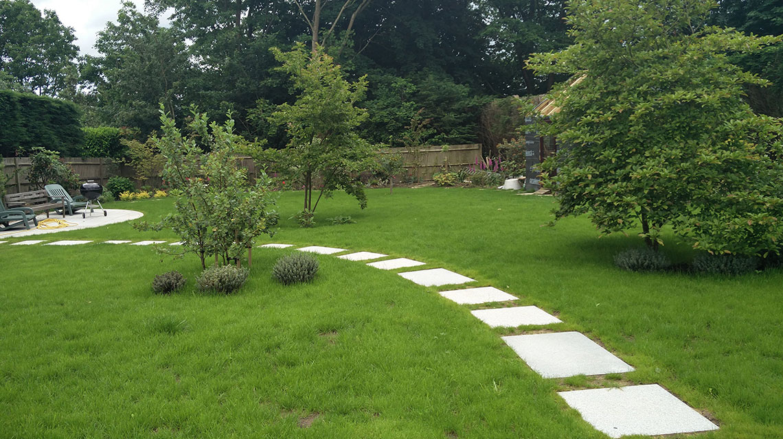 Our Langton Green landscaping project.