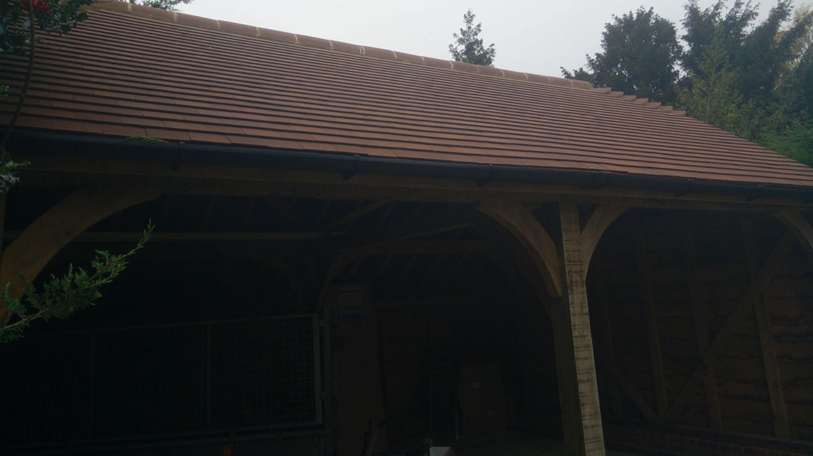 Our Oak Garage construction project.