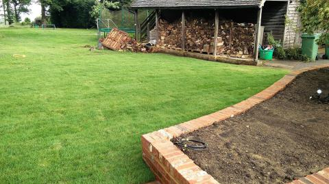 Our Brenchley landscaping project.