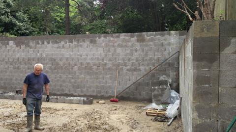 Our Retaining Wall construction project.